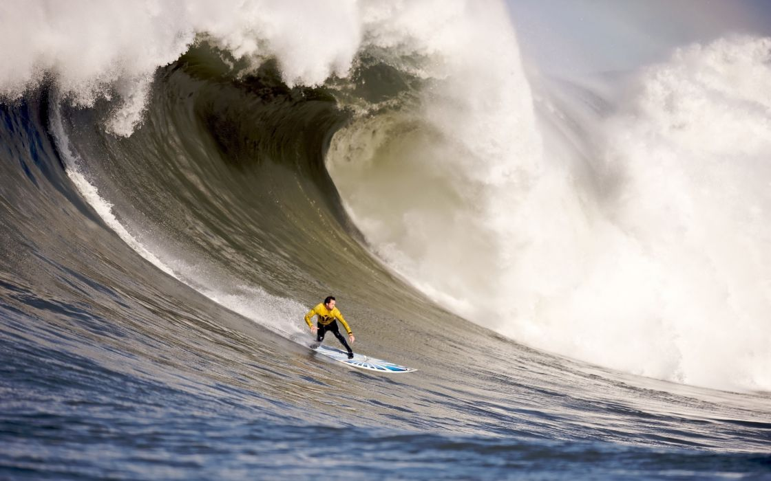 sports surfing surfboard waves ocean sea power drops spray explosion men males boy extreme awesome wallpaper