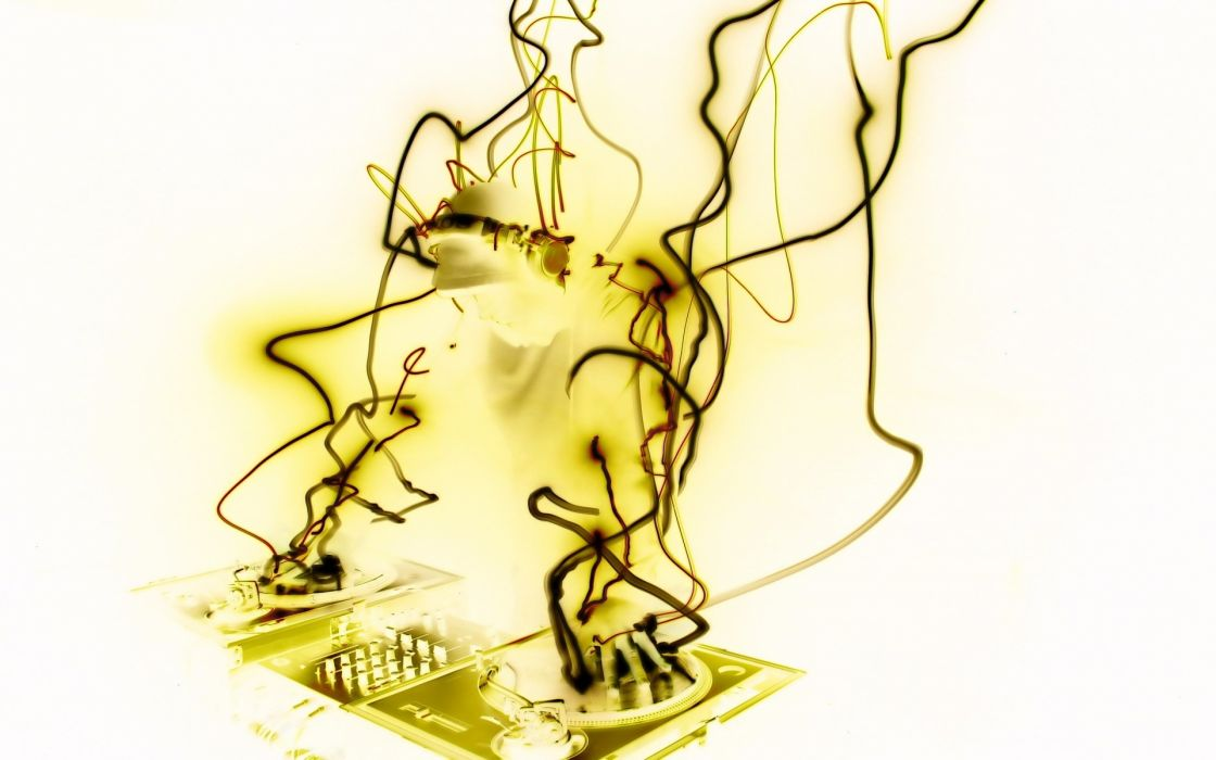 entertainment music turntable record dj art artisitic manipulation tech psychedelic wallpaper