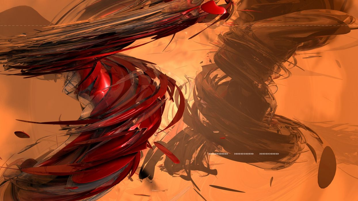 cg digital art 3d art artistic color shapes stripes motion whirl confusion wallpaper