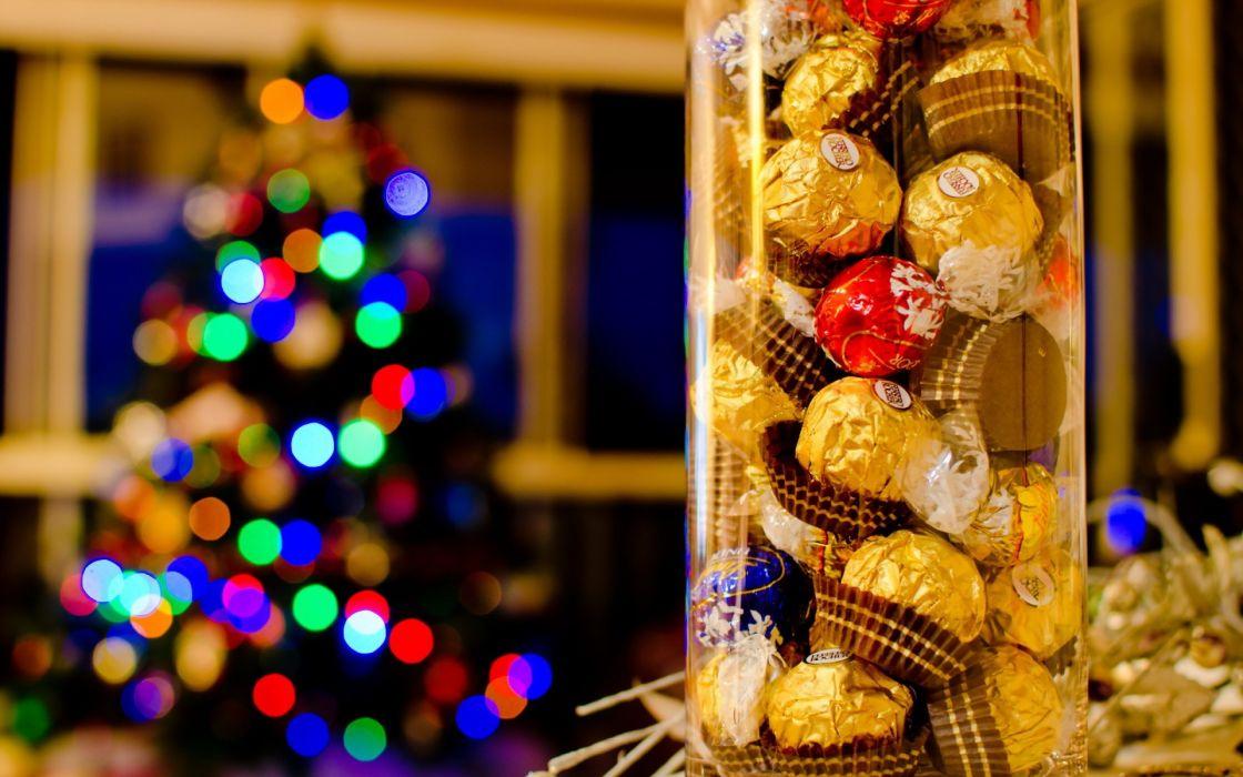 holidays christmas seasonal candy sweets wallpaper