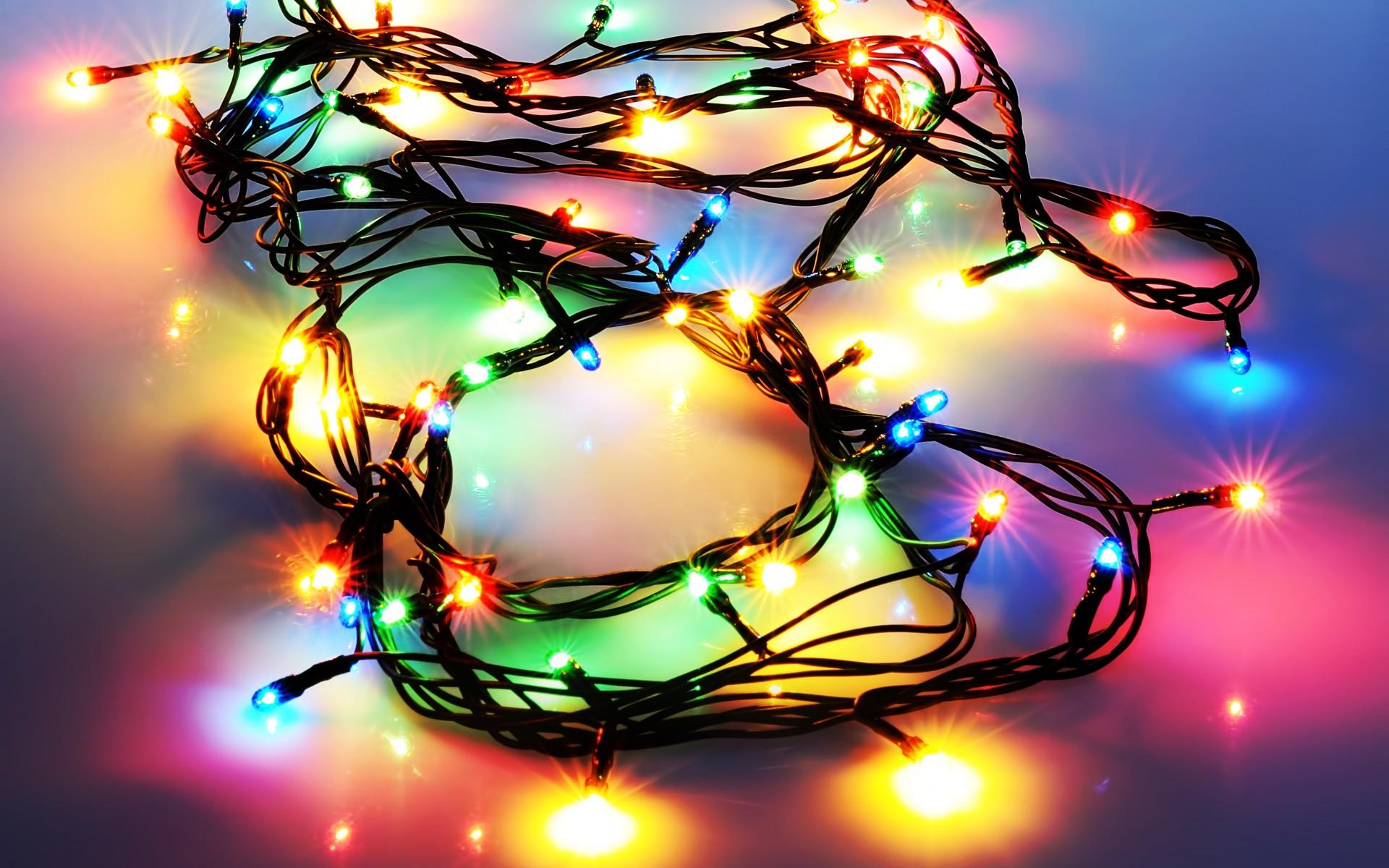 Holidays Christmas Lights Seasonal Colors Shine Sparkle