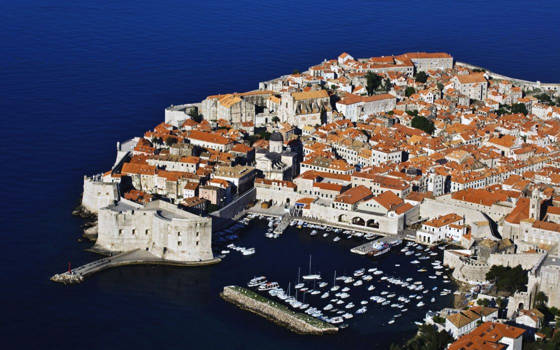 croatia dubrovnik resort tropical place architecture world cities villa town marina harbor vehicles boats ships buildings houses scenic ocean sea lake water contrast wallpaper