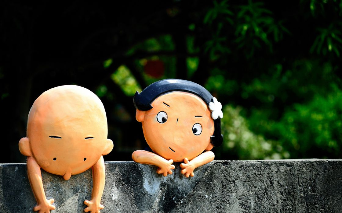 humor funny children dolls photography cute faces eyes bokeh wall situation friends girls boys wallpaper