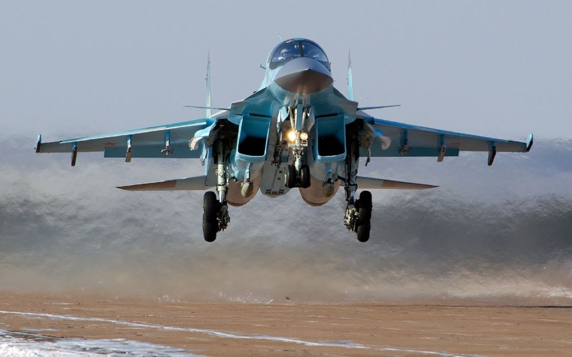DANI-34 Sukhoi bomb military russia weapon flight fly wings wheels fuel exhaust airplane aircraft jet wallpaper