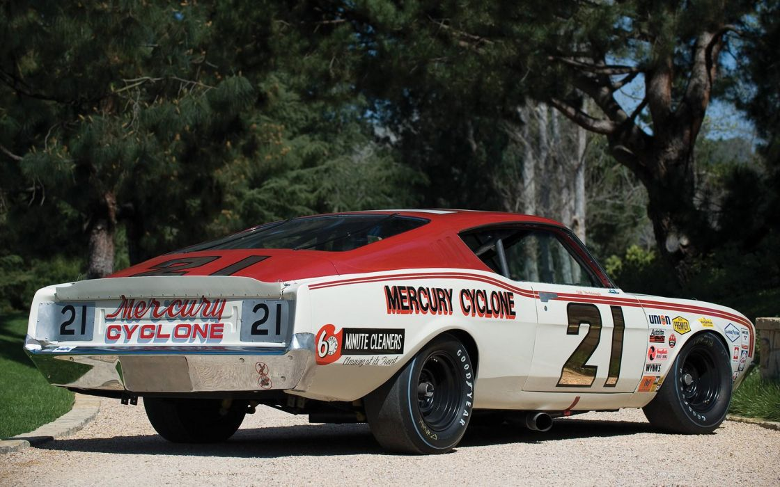 Mercury Cyclone vehicles cars auto nascar race racing roads stance wheels hot rod muscle retro trees wallpaper
