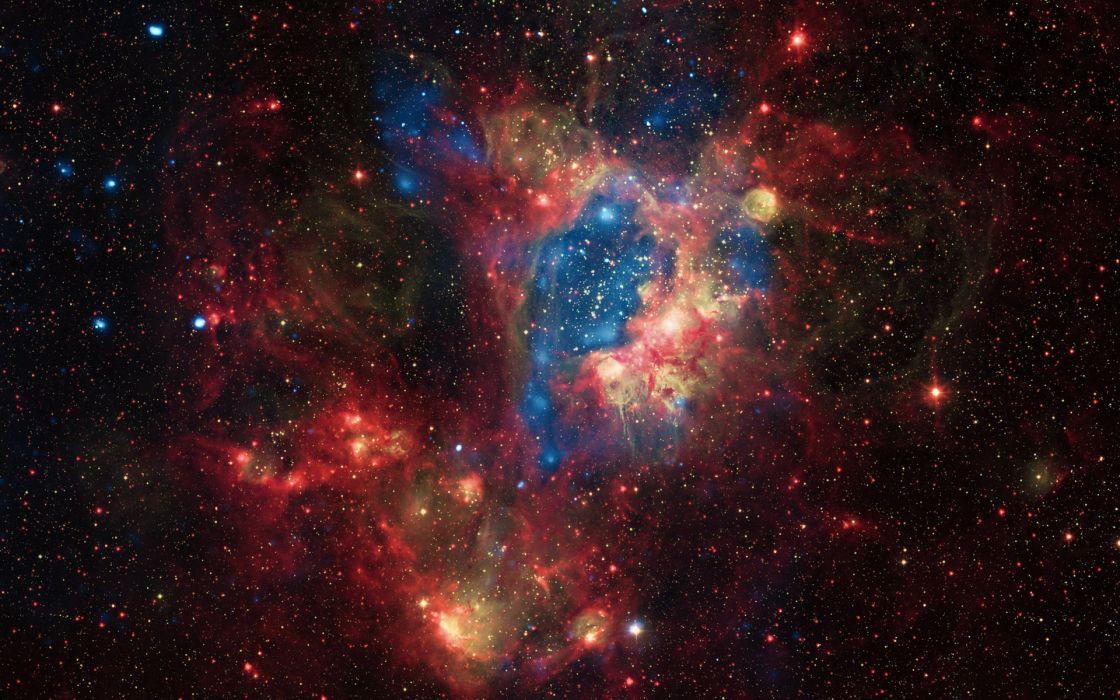 sci fi science fiction space universe stars nebula color dust wallpaper