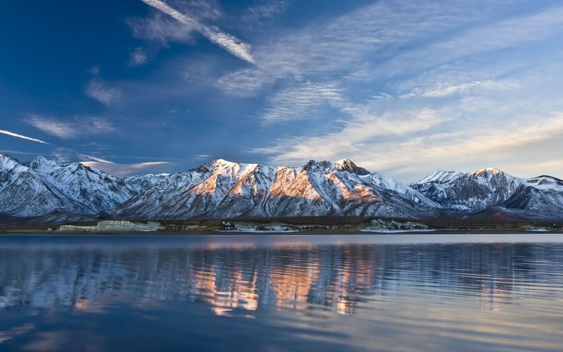 nature landscapes mountains lakes peaks range beaches sky clouds snow water reflection sea ocean rivers wallpaper