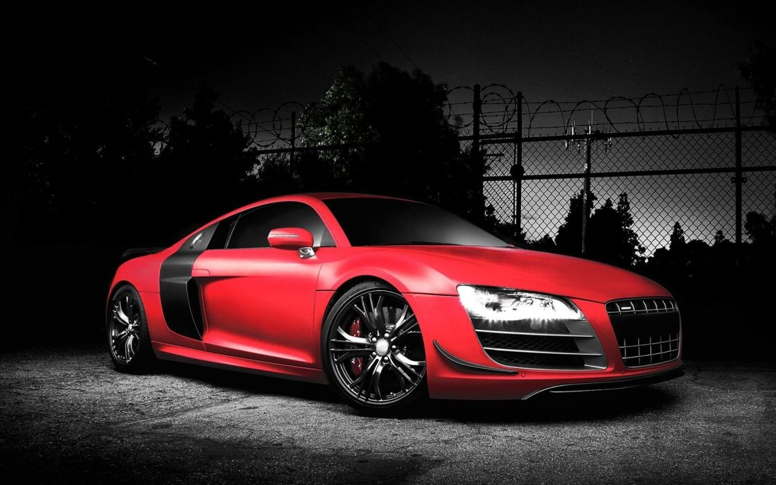 Audi R8 GT vehicles cars auto red wheels tuning grill lights wallpaper