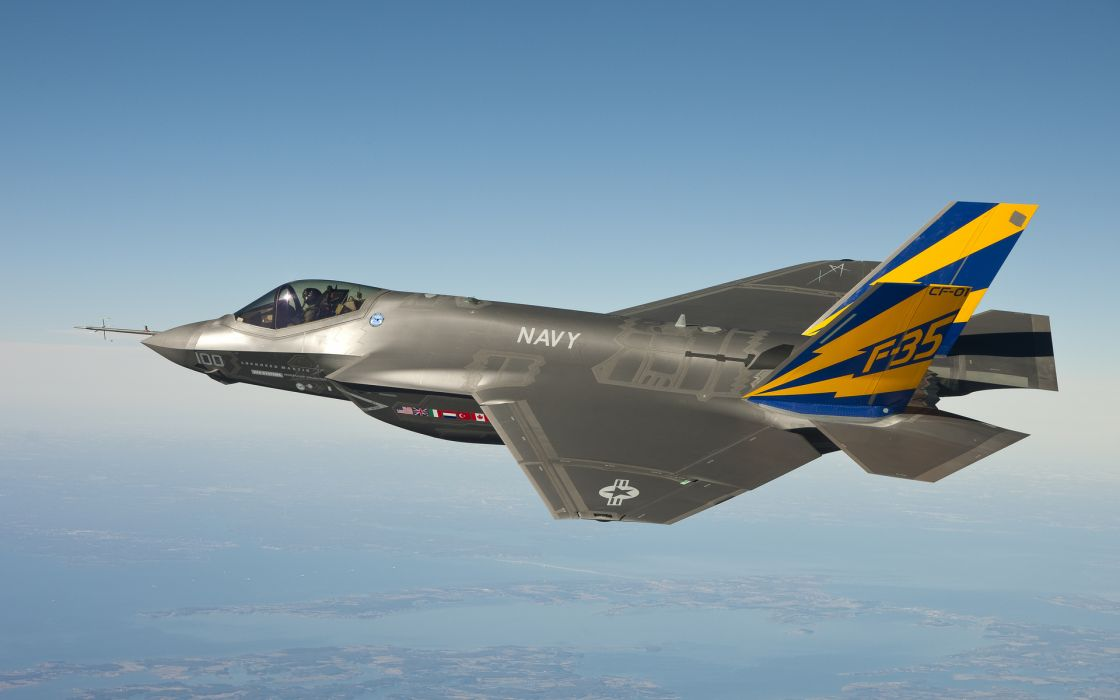 F-35 vehicles aircraft wings jet fighter flight fly military air force wallpaper