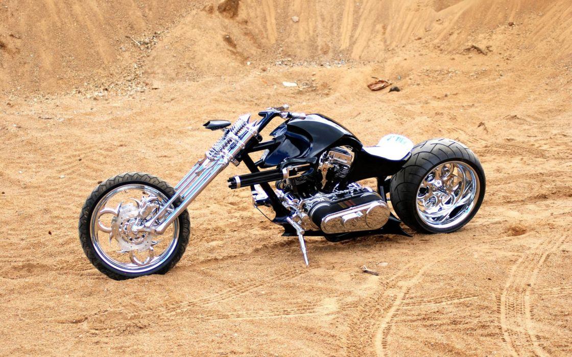 custom chopper sled vehicles motorcycles motorbikes bike stance chrome black wheels wallpaper