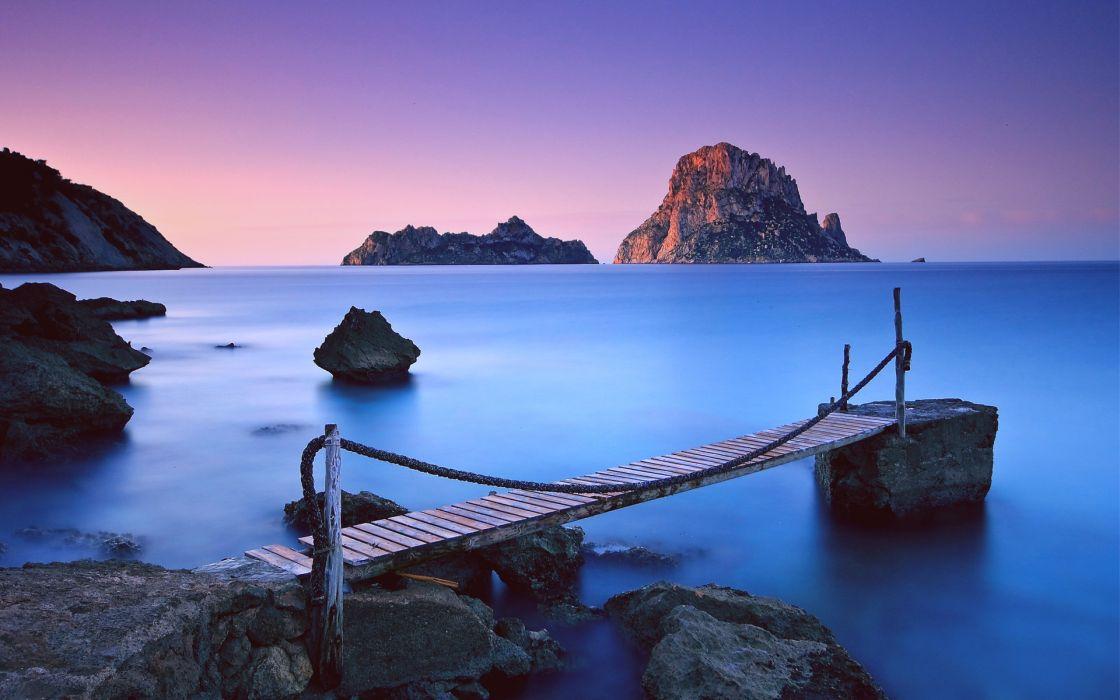 nature ocean sea water dock pier islands sunrise sunset beaches sky wallpaper