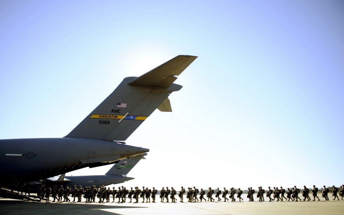 vehicles tranport aitcraft airplane plane people warrior soldier weapons guns rifle wallpaper
