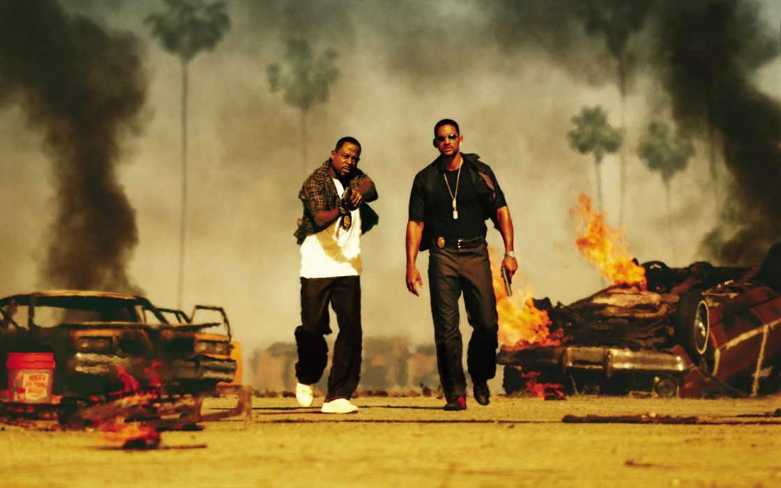 Bad Boys 2 explosion violence fire flames will smith actor vehicles cars smoke wallpaper