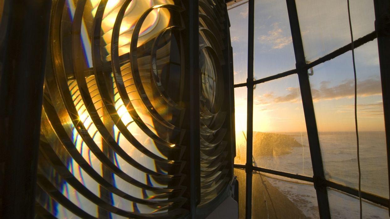 lighthouse lens australia world architecture lense mirrir window glass light lamp ocean sea sky clouds sunset sunrise scenic view wallpaper