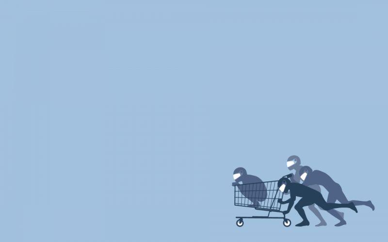 Threadless cart fun art wallpaper