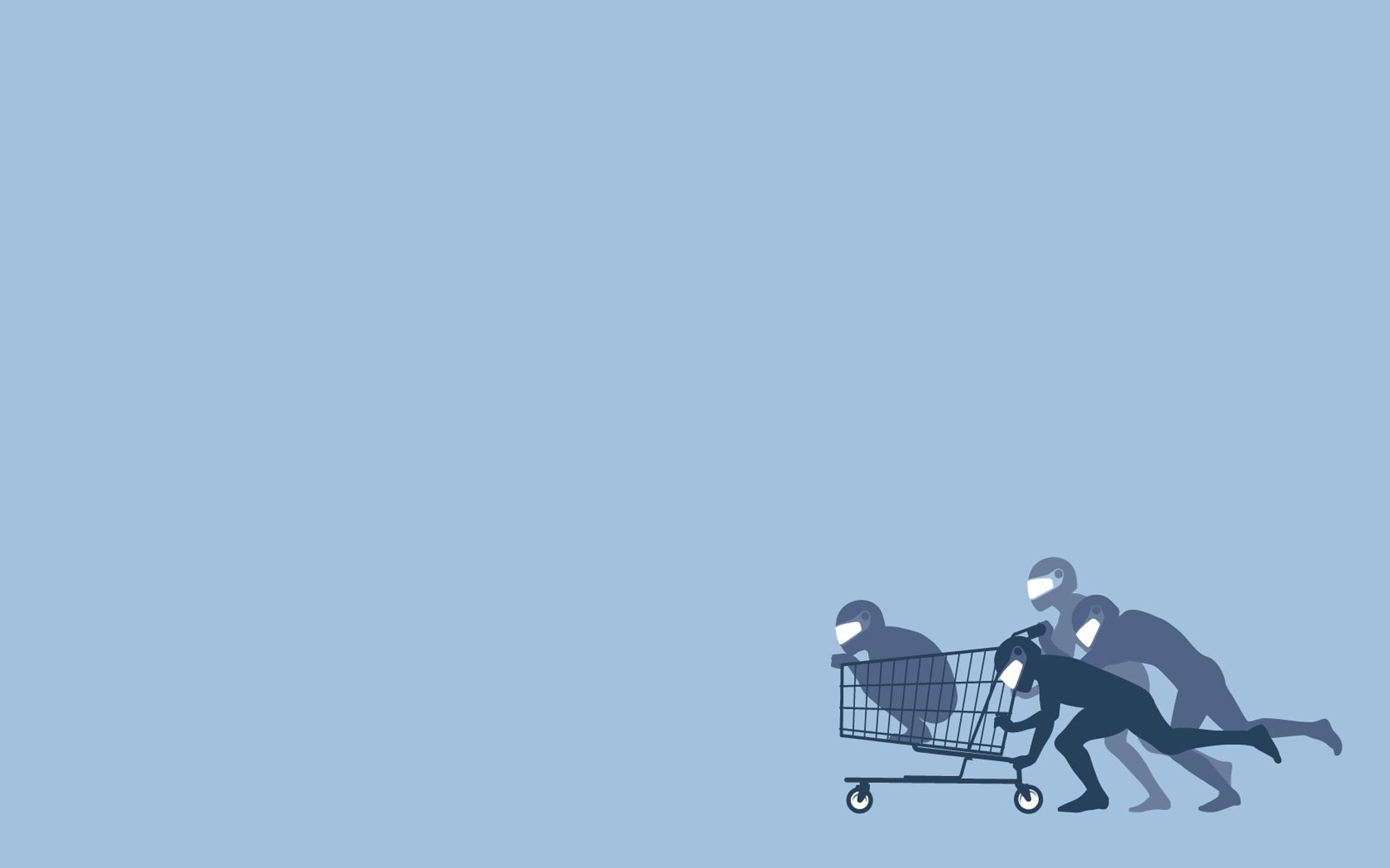 Threadless cart fun art | Minimal Wallpapers | Pinterest | Fun ...