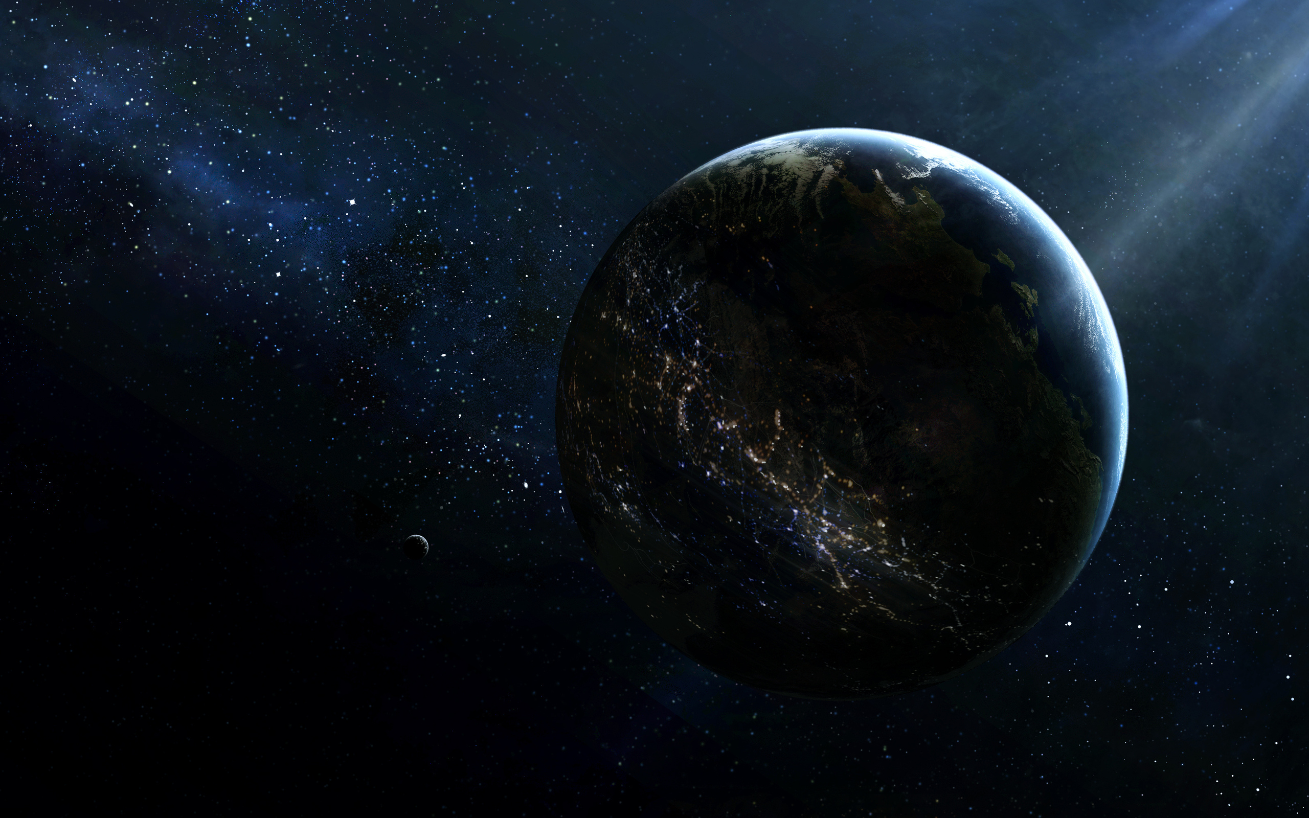 Sci fi science fiction space universe outer planets stars ... | 2560 x 1600 jpeg 1354kB