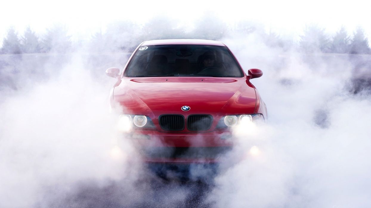 BMW vehicles cars auto tuning smoke burn red import wallpaper