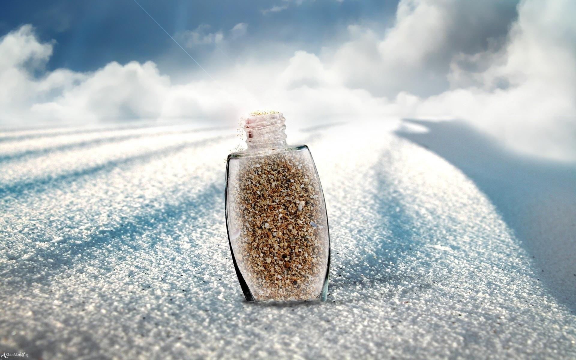 bokeh sand time contrast dunes landscapes sky clouds bright dream
