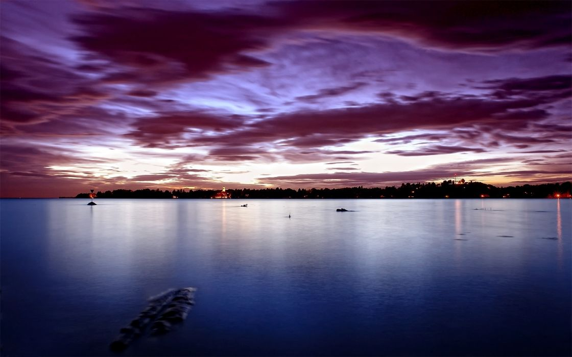 Bodensee Germany ocean sea bay harbor water reflection nature sky clouds rivers sunset sunrise night dusk trees land cities buildings lights wallpaper