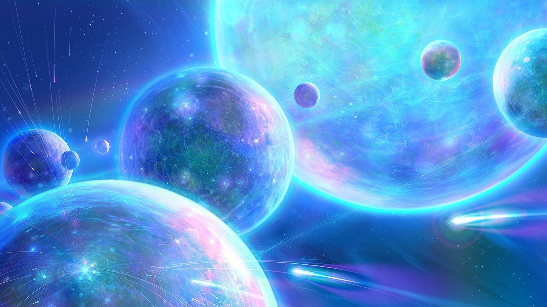 Sci fi science fiction planets space universe moon stars ...