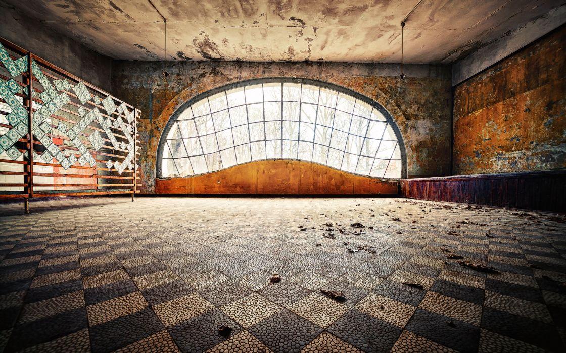 architecture buildings room window retro decay urban ruin abandon derelict wallpaper