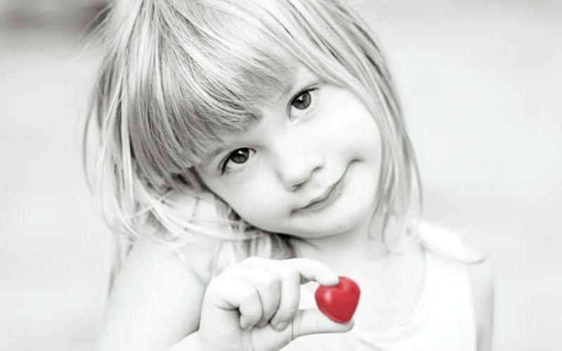 people selective color cjildren kids babies black white face eyes heart cute love wallpaper