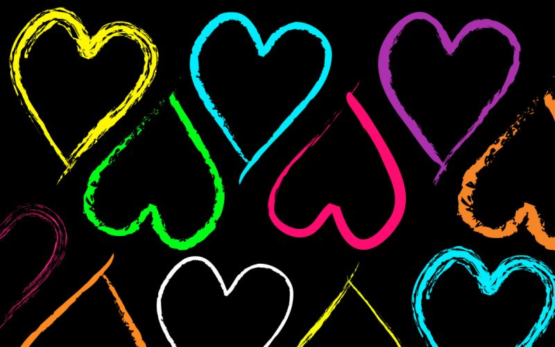 love romance heart color abstract emotion valentine wallpaper