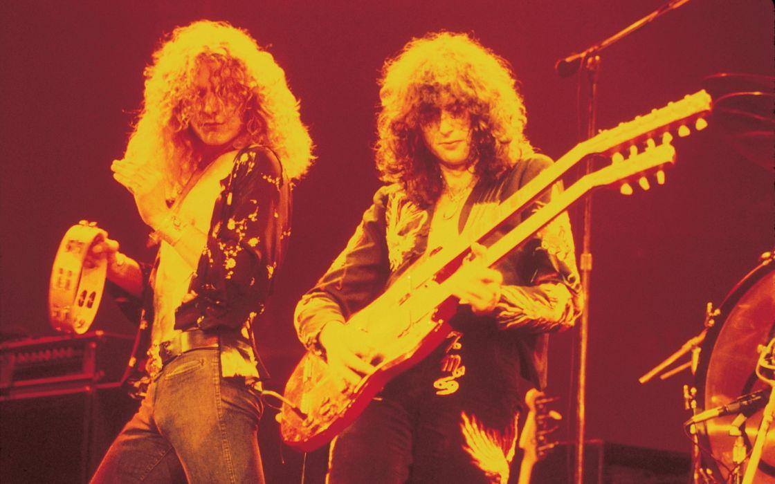 Led Zeppelin concert guitar ban group color wallpaper