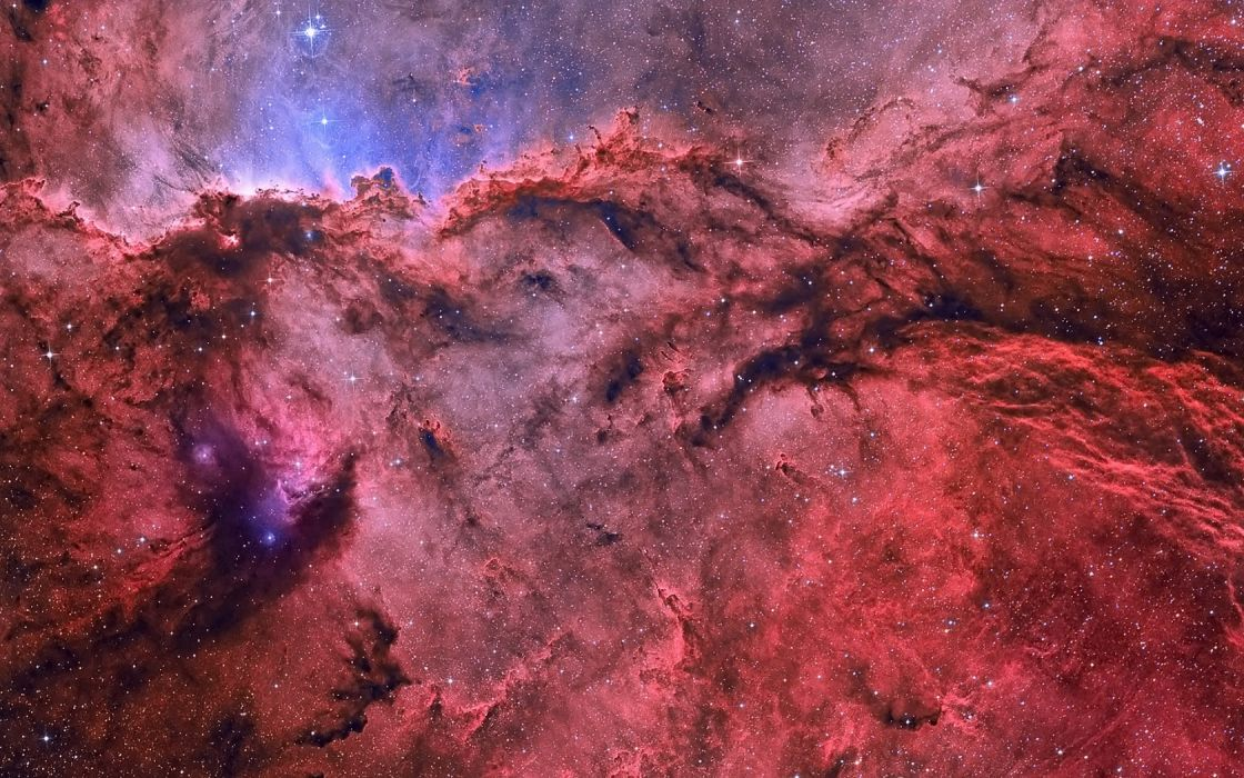 sci fi science fiction nebula stars dust red color space universe outer wallpaper