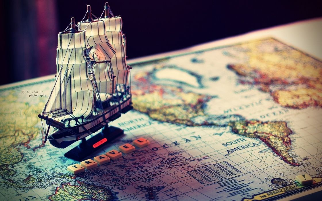 world maps continents vehicles ships travel boats vacation detail schooner wallpaper