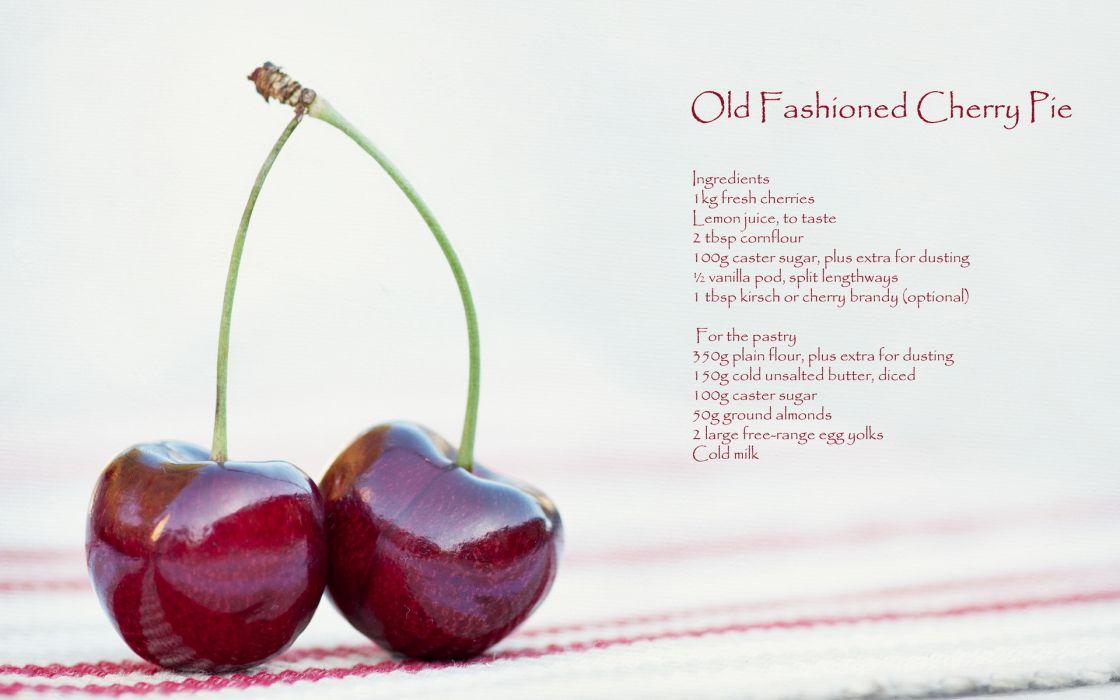 food cherry fruit berry rustic recipe wallpaper
