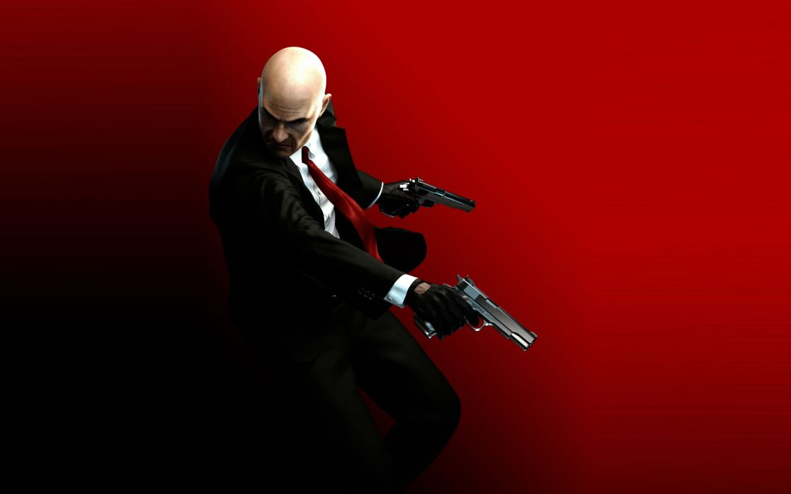 Hitman games weapons guns pistol assassin men males people warrior dark wallpaper