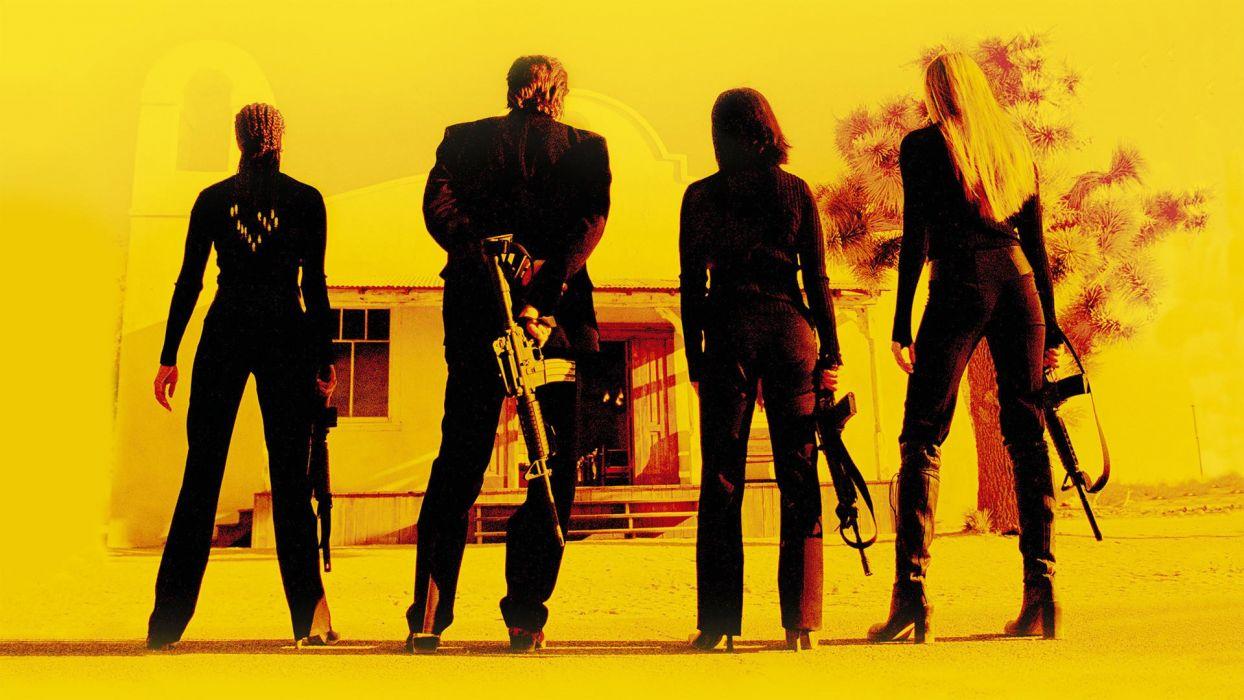 Kill Bill weapons guns rifles yellow killer assassin people men males women females girls wallpaper