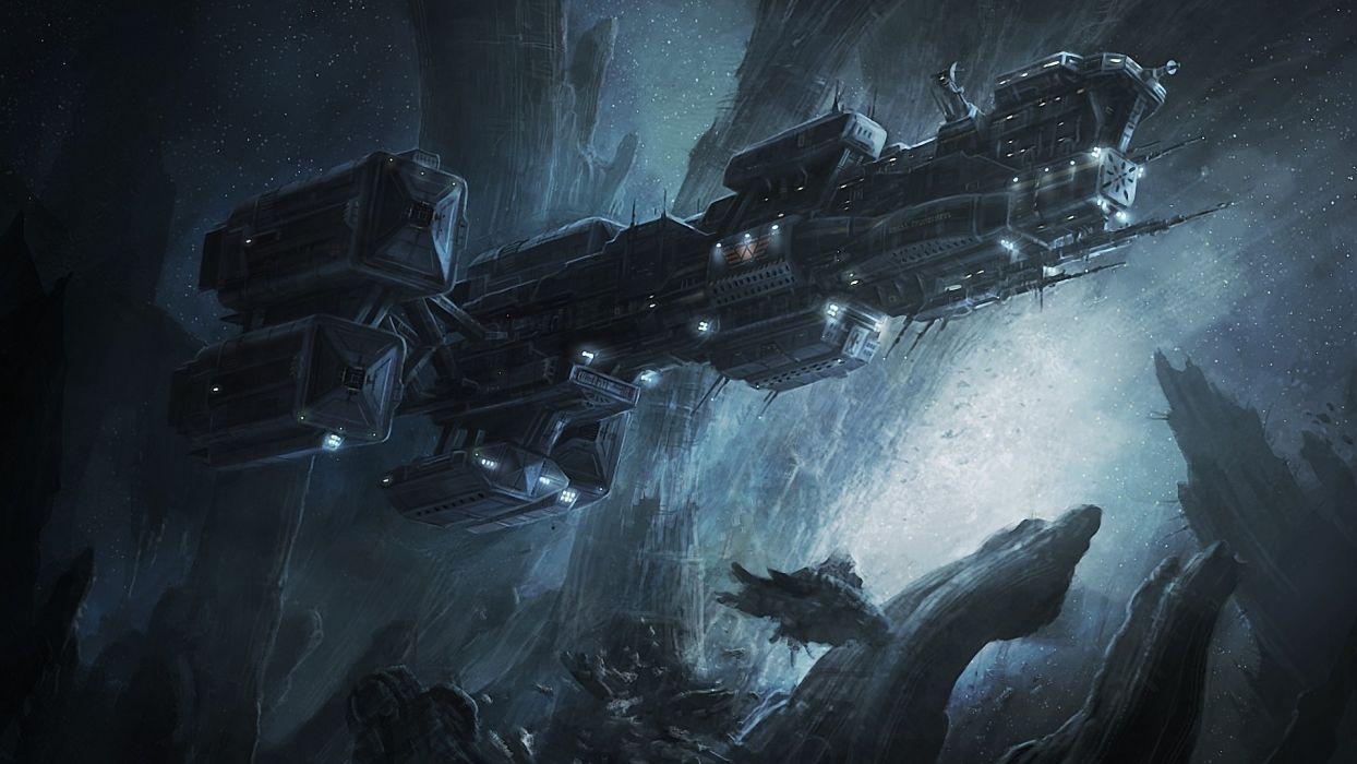 Prometheus sci fi science fiction spaceship spacecraft vehicles space wallpaper