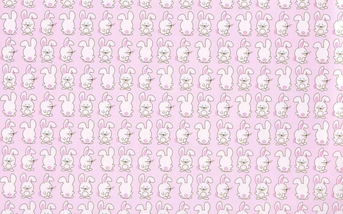 Bunny Pattern rabbit cute children wallpaper