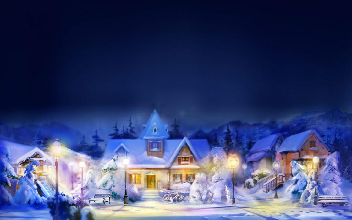 holidays christmas winter snow wallpaper