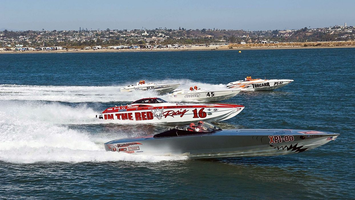 vehicles watercrafts ships boats bullet racing spray drops track performance lakes water ocean sea shore wallpaper