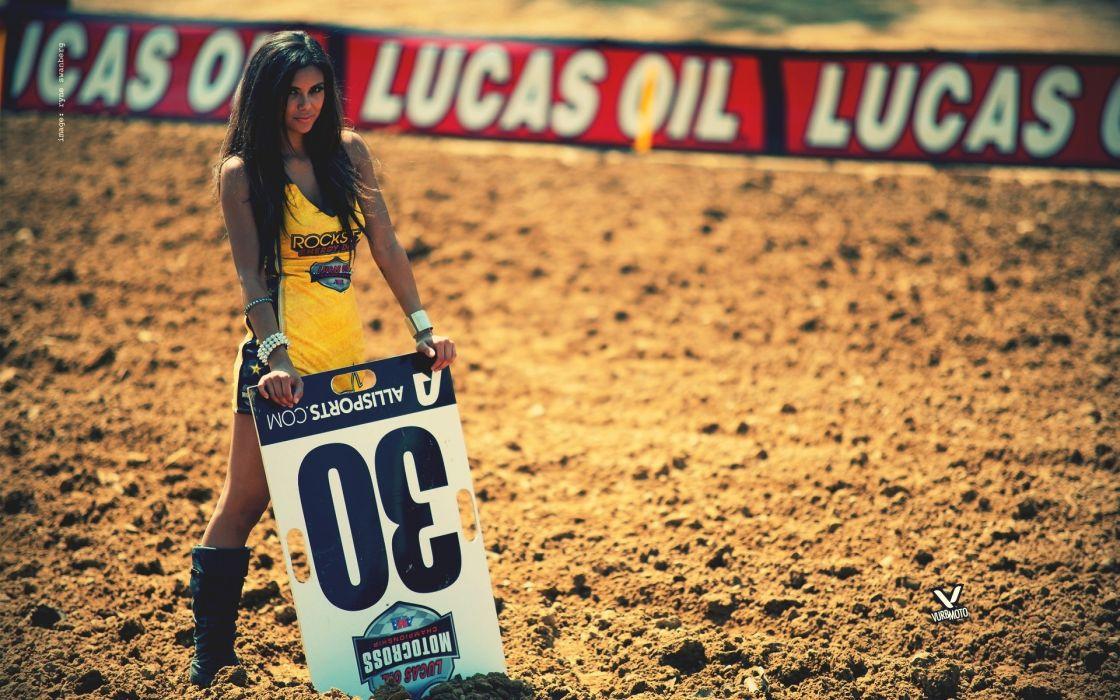 women females girls babes brunette racing race wallpaper