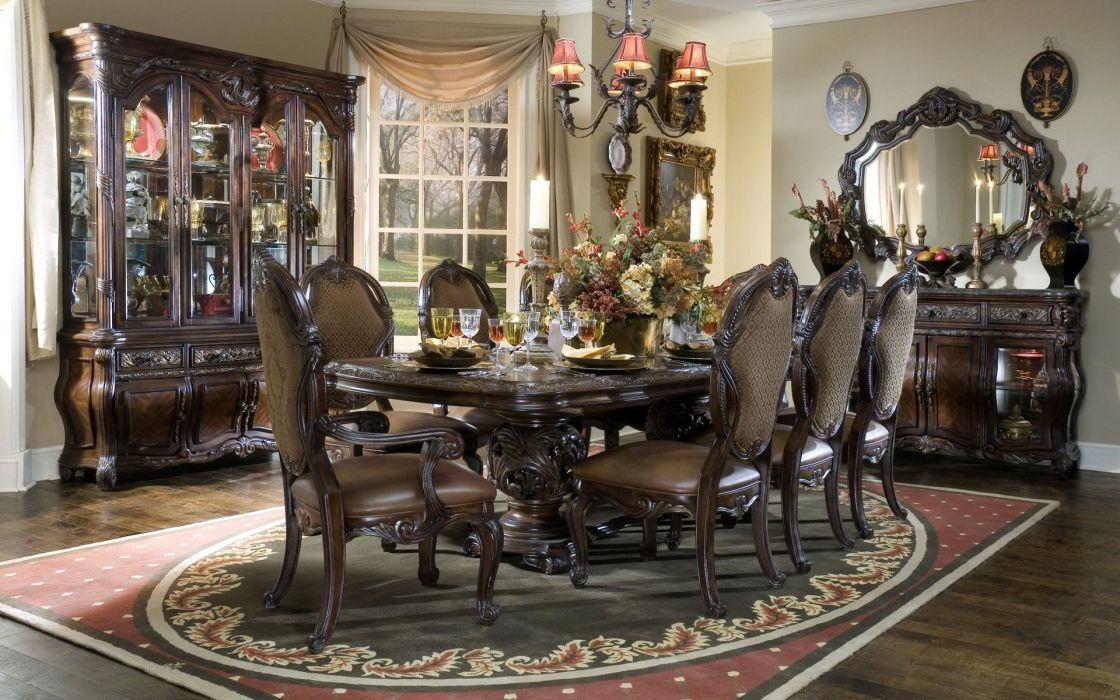 chandeliers interior design furniture dining rooms mirror wallpaper