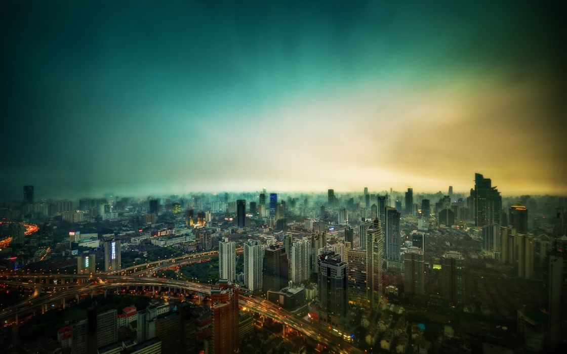 world cities architecture buildings skyscrapers roads lights skyline cityscape wallpaper