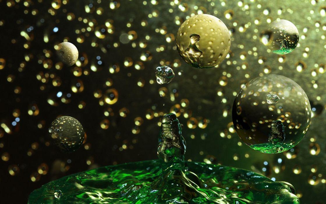 nature drops spots shapes bubbles water liquid bokeh wallpaper