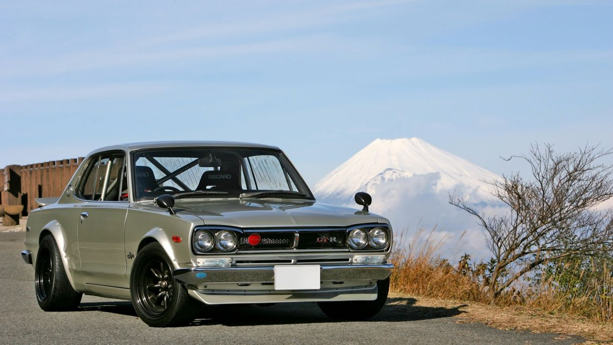 nissan skyline vehicles cars silver tuning wallpaper