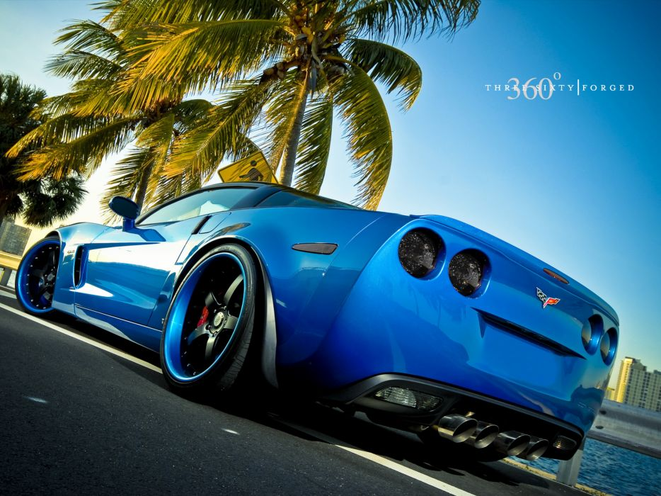 vehicles cars chevrolet chevy corvette tuning supercar stance wheels blue roads wallpaper