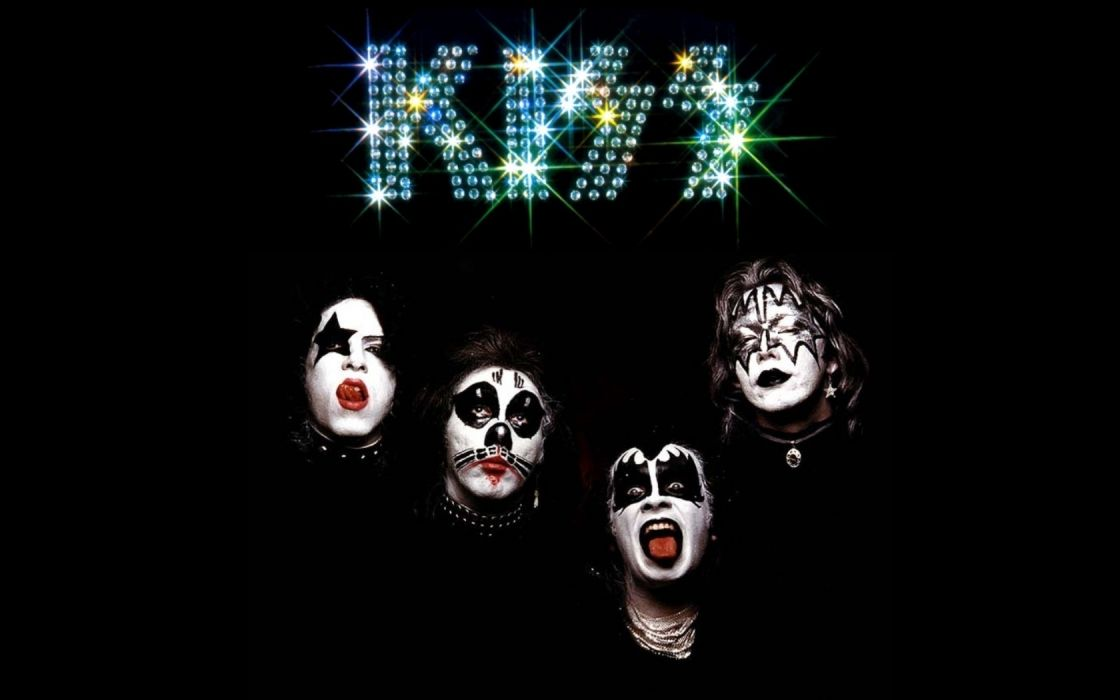 KISS music bands groups faces makeup heavy metal hard rock wallpaper