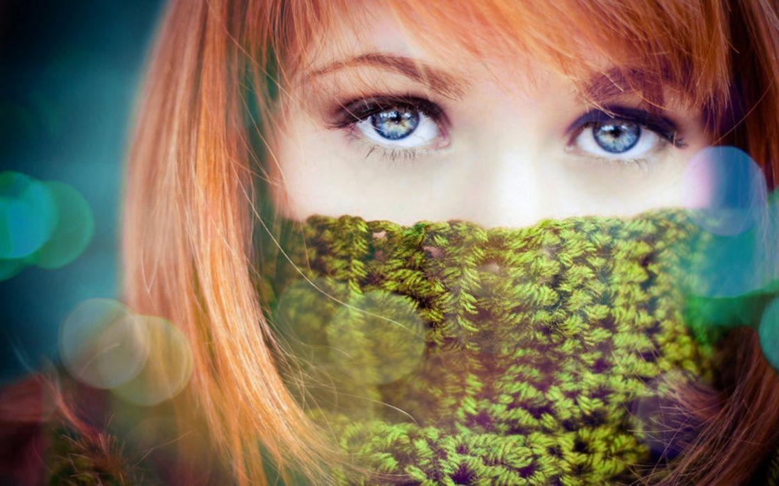 sparkle women females girls redhead face eyes pov style fashion models wallpaper