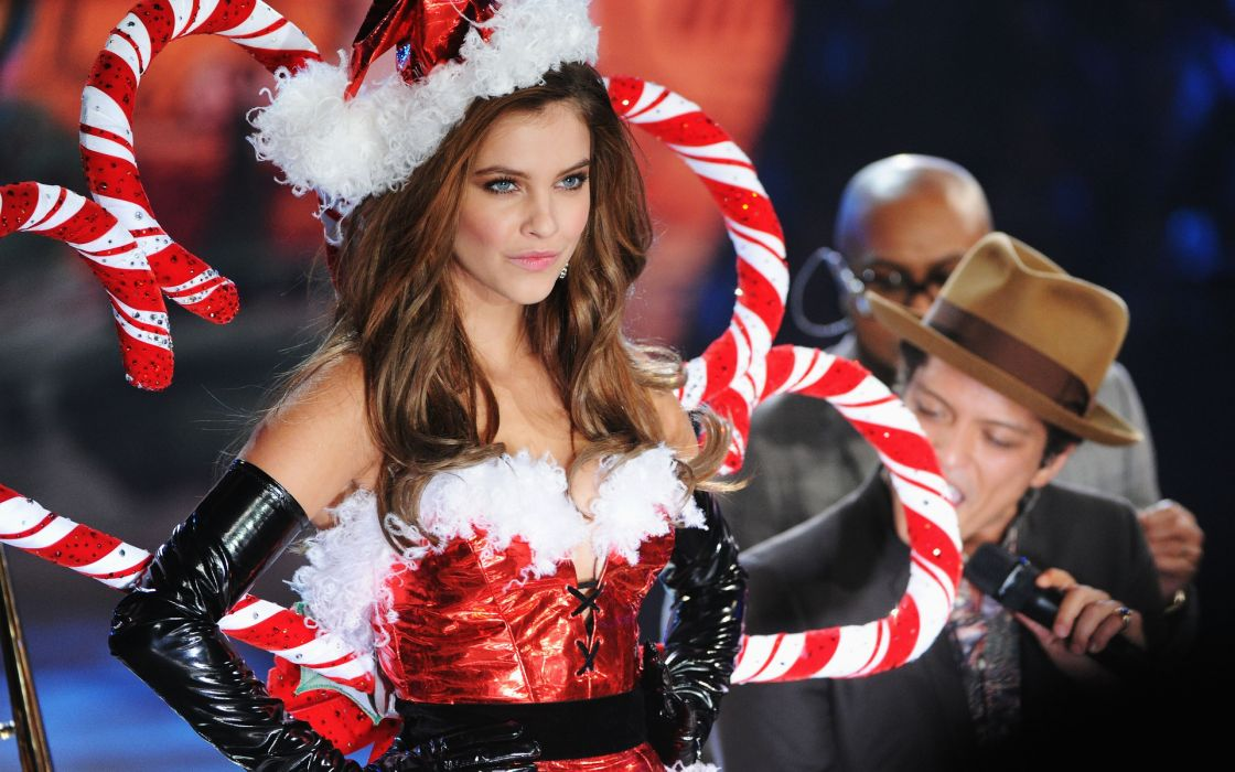 barbara palvin women females girls babes models sexy sensual fashion style brunette christmas wallpaper