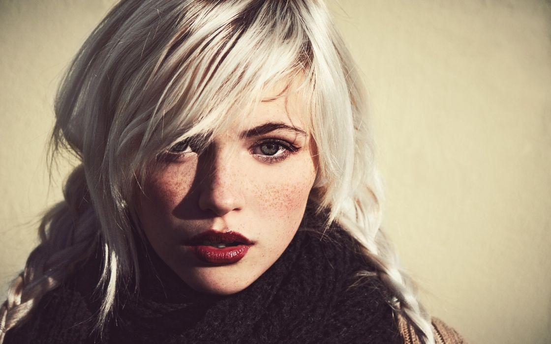 women females girls babes blondes face eyes pov lips models wallpaper
