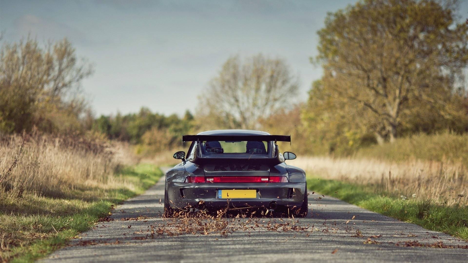 Porsche 911 Turbo Vehicles Cars Roads Speed Motion Wings Wallpaper