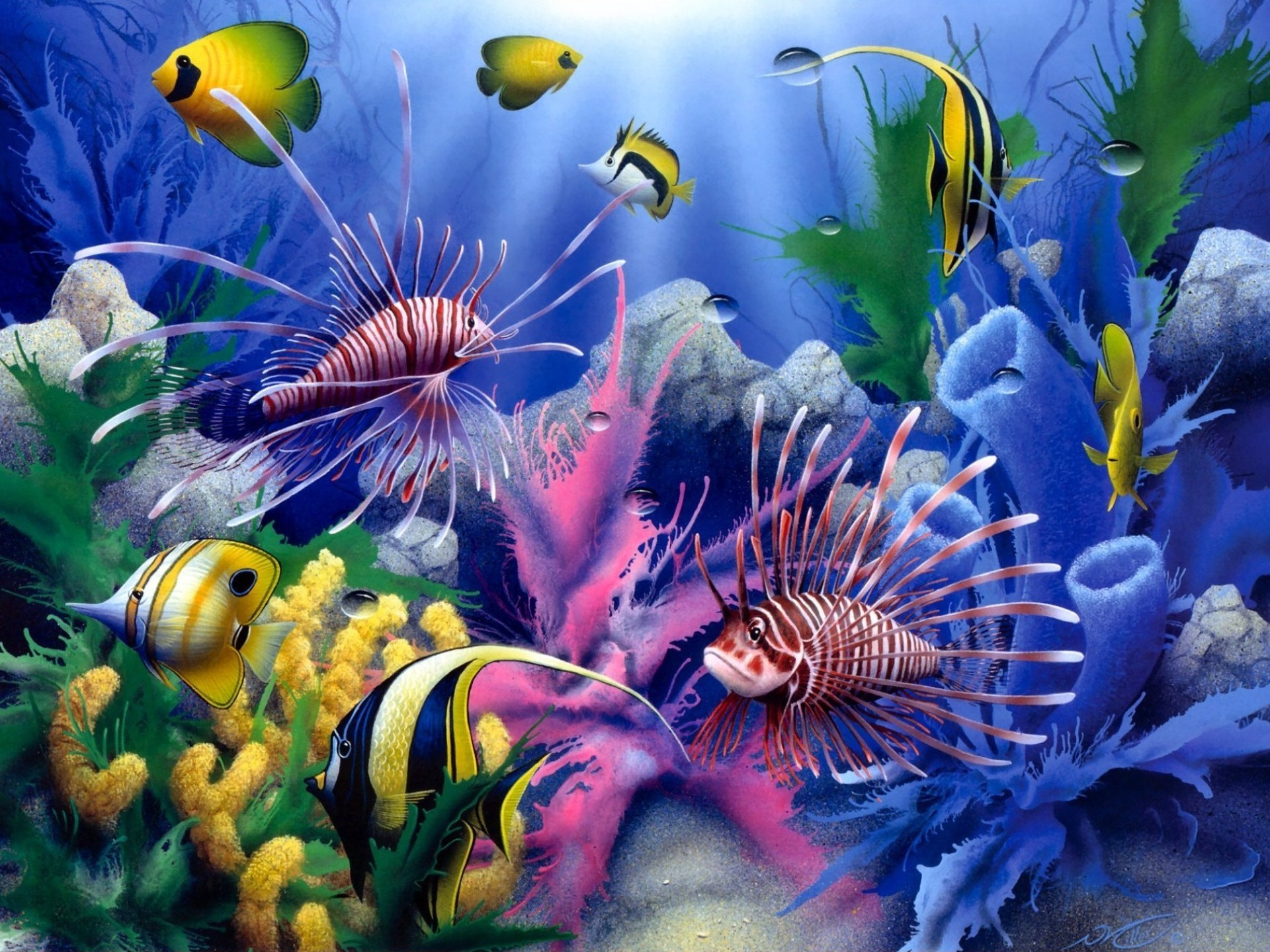 Lions Of The Sea David Miller Painting Art Animals Fishes